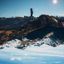 freetoedit upsidedownworld upsidedownart mountains nature