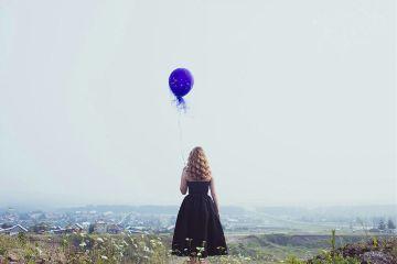 freetoedit photography girl nature balloon
