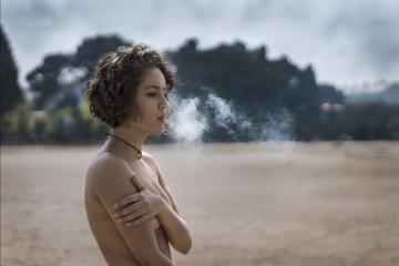 smoke nude beach sky nature