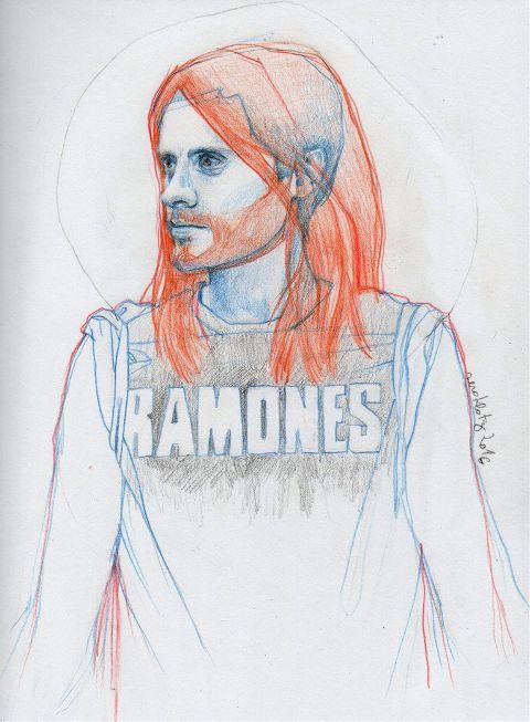 drawing sketch jaredleto