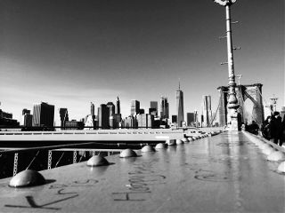 nyc brooklynbridge blackandwhite newyork