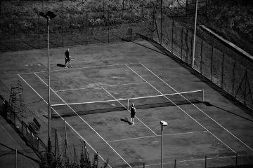 blackandwhite sport tennis silhouette game