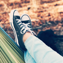 nature shoes hammock outdoors colorful