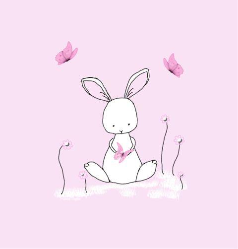 rabbit mydrawing butterflies pink freetoedit