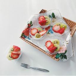 strawberry kiwi orange fruits almondjelly freetoedit