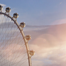 highroller beautiful ferriswheel sunset sky freetoedit