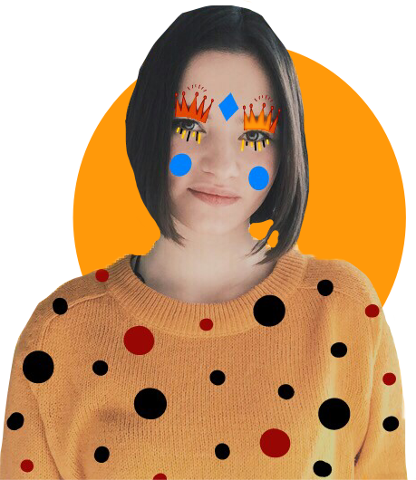 #FreeToEdit #ftestickers #orange #art #dotted #shapes