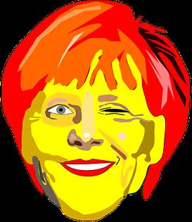 #FreeToEdit #ftestickers #face #merkel #wink