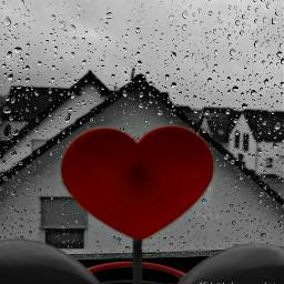 rain raindrops heart thebeautyandthebeast freetoedit