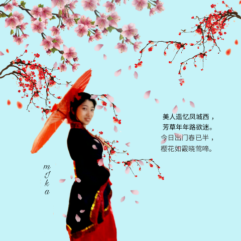 photography cherryblossoms me portrait chinese