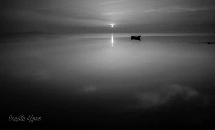 photography beach blackandwhite boat marmenor