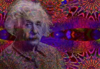 freetoedit einstein colorful pattern mirroreffect