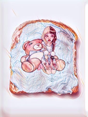 #FreeToEdit #remix #edit #toast #bed #melaniemartinez #cute #crybaby #kawaii #teddybear #sketchyedit #melaniemartinezfanart