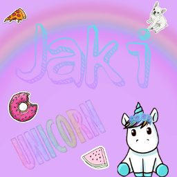 unicorn purple cute freetoedit