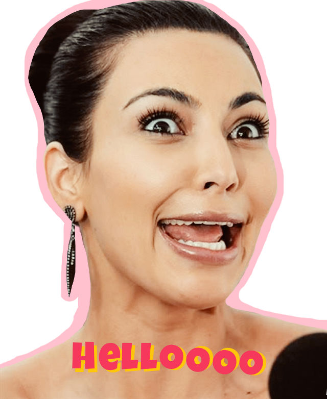 #ftestickers #kimkardashian #funny #celebrity #hello #face #kardashian