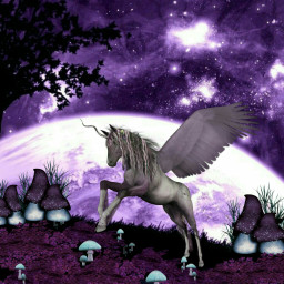 freetoedit unicorn unicornday purple editedbyme