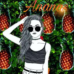 freetoedit ananas#coolgirl#colourful#colorfull bright#brightness#tumblr#colorfully summer ananas